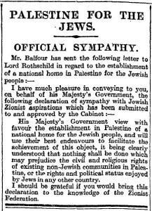 Balfour_Declaration_in_the_Times_9_November_1917